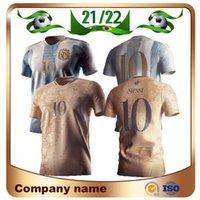 20/21 Argentina Maradona Edición conmemorativa Jerseys 2021 # 10 Messi 200 aniversario Dybala Agüero Celso Martinez Camisa de Fútbol Uniformes