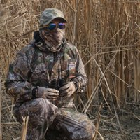 Winter Warm Fleece Bionic Camouflage Hunting Ghillie Suits Tactical Hiking Fishing Clothes Men Waterproof Jacket Pants Hoodie