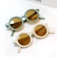 Mode Runde Kinder Sonnenbrille Jungen Mädchen Vintage Sonnenbrille UV-Schutz Klassische Kinder Eyewear Lentes de Sol Gafas