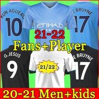 Manchester Soccer Jersey 21 22 G. Gesù City Sterling Ferran de Bruyne Kun Aguero 2021 2022 Camicie da calcio Uomo Uniformi Uomo + Kit bambini Kit
