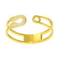 Bangle Spring Bracelet Retro Copper Metal Wide Hand Designer Custom Cuff Charm Bangles Jewelry Crystal Stone Bridal Girls Friends