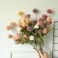 Decorative Flowers & Wreaths 1PC 5 Heads Artificial Flower Bouquet Silk Ball Fake DIY Home Wedding Decoration Valentines Day Gifts