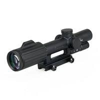 FFP 1-6X24 Cross Concentric Hunting Riflescope Vue optique tactique lumineuse Scope Sniper Black Color CL1-0340