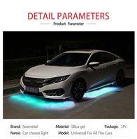 Car Flexible Underglow Strip Light LED Underbody Remote  APP Control RGB Neon Lights Auto Decorative Ambient Atmosphere Lamp