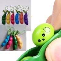 Push It Multicolor Edamame Finger Toy Poe Beans Bears Keychain A против стресса Взрослые дети декомпрессионные игрушки
