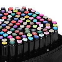 Touchfive 30/40/60/80/168 Conjunto de marcadores de color Juego de marcadores de dibujo de manga Pluma Bosquejo basado en alcohol Bosquejo Fieltro Fieltro Twin Brush Pen Suplementos de arte