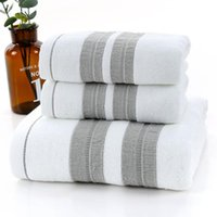 Towel 100% Cotton 3pcs set Sets Beach Bath Towels For Adults High Quality Soft 2pcs Face Drop