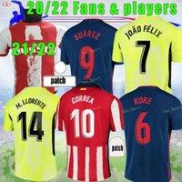 21/22 Atletico Futbol Formaları Suárez Madrid 2021 22 João Félix Saul Koke M.llorente Dembélé Erkekler Çocuk Kitleri Eğitim Futbol Forması Pantolon