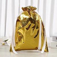 Christmas Decorations Drawstring Gift Bag Packaging Santa Elk Pine Tree Pattern Packing Box For Storage Supplies