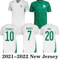 Algerie Fan Version 2021 Jerseys de football Mahrez Feghouli Bennacer Atal 20 21 T-shirt de football Algérie Hommes Maillot de pied