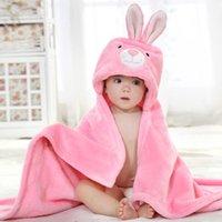 Towels & Robes Born Hooded Towel Children Baby Spa For Bath Flannel Blanket Kids Bathrobe Infant Hood Beach
