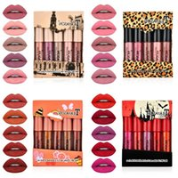 TEAYASON 5pcs set Matte Lipstick Set Lip Gloss Glaze Liquid Lipsticks Non-stick Cup Nude Gift for Girlfriend Daily Cosmetics