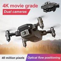 S66 Mini Yerçekimi İndüksiyon Katlanır Quadcopter RC Drone 4 K HD Kamera Profesyonel Hava Fotoğraf Helikopter RC Oyuncaklar Dropship 210325
