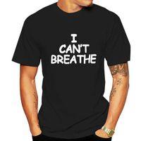 T-shirts Hommes JCGO ÉTÉ FEMMES T-shirts T-shirts T-shirts Cotton 5XL Plus la taille Je ne peux pas respirer des lettres imprimer imprimer une manche courte ô femme tops tees décontracté TSHI
