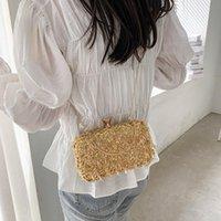 حقائب الكتف الذهبي مساء مخلب حقيبة المرأة الزفاف لامعة حقائب الزفاف معدن القوس براثن سلسلة