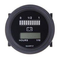 급수 장비 12V / 24V / 36V / 48V / 72V LED 디지털 배터리 상태 충전 표시기 시간 미터 게이지 블랙