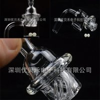 100% Quartz Banger Nail with Spinning Carb Cap and Terp Pearl Female Male 10mm 14mm 18mm Joint 90 Degrees For Glass Bongs 433 S2