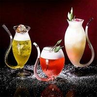 النبيذ الويسكي الزجاج كوب شفافة مقاومة للحرارة الزجاج مص عصير حليب كأس الشاي النبيذ كوكتيل كوكتيل الشرب نظارات canecas