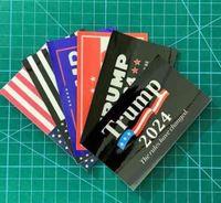 6 adet / takım Donald John Trump 2024 ABD Seçim Araba Çıkartmaları Aksesuarları Amerikan Ulusal Bayrak Mektuplar Baskılı Paster Sticker G338etw
