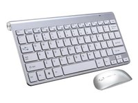 Gold Wireless Keyboard And Mouse Mini Rechargeable With Noiseless Ergonomic For PC Tablet Phone Keyboards
