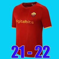 Tops Mancini Veretout B. Mayoral 2020 2021 Totti de Rossi como Dzeko Jerseys de fútbol Roma 20 21 Camisetas de fútbol de fútbol Juegos de kits para niños