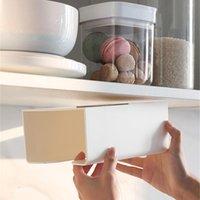 Tissue Boxes & Napkins Kitchen Paper Storage Box Paste Wall-Mounted Towel Holder Toilet