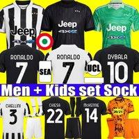 fans player version soccer jersey 2021 2022 RONALDO DYBALA MORATA CHIESA McKENNIE juventus football kit shirt 21 22 JUVE Men + Kids set socks goalkeeper