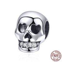 6 Mélange Bracelet Original 925 Sterling Silver Scarl Head Head Halloween Perles Bijoux à la main Bijoux à la main Pendentif pour collier