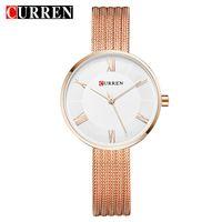 Wristwatches CURREN Women Watches Quartz Top Fashion Bracelet Watch Mesh Gold Ladies Dress 9020