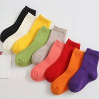 Socks Children's Candy Color Pure Boy Girl Baby Bar Ribbon Booties 0 To 8 Years Old Kids Sneaker Sock