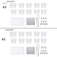 النظارات الشمسية إطارات 10 أزواج دفع في النظارات منصات الأنف الناعمة سيليكون المضادة للانزلاق الهواء حجر النظارات أدوات إصلاح كيت