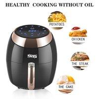 Air fritade fritadeira premium, cozinhar rápido uma variedade de alimentos, menos fumaça de óleo, opções de modo múltiplo saudável e seguro