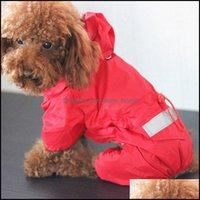Dog Home & Gardendog Apparel 1Pc High Quality Acrylic Rain Coat Reflective Waterproof Clothes For Day Solid Thin Jacket Pet Supplies Drop De