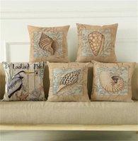 18 '' cuscino stile oceano copre 4 tipi conchiglia conchiglia di cotone cuscino cuscino casa decorativo divano decorativo cuscino cuscino federa 326 v2