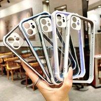 루비 큐브 듀얼 컬러 공기 갑옷 아이폰 13 12 11 프로 최대 XR XS x 8 7 플러스에 대한 맑은 아크릴 하드 전화 케이스