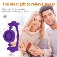Push Bubble Finger Toys Silicone Fidget Simple Dimple Pop Wrist Bracelet Watchband Straps Toy Men Women Squeeze Bubbles Decompression Gift