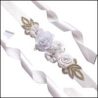 Belts & Fashion Aessoriesbelts Ornaments Aessories Sashes Beaded Elegant Bridal Dress Flower Pearl Crystal Simated Rose Wedding Belt Waistba