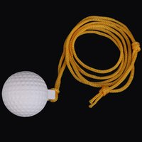 New Arrivals Pocket Durable Reuseable Swing Practice Solid Ball with String Gift for Beginner Golf Training Aids Equipment