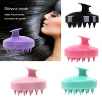 Hair Brushes Handheld Silicone Scalp Shampoo Massage Brush Washing Shower Massager Clean Bath Cleaning Comb