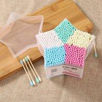 Baby-Baumwoll-Swab-Stick-Kopf-Ohr-Knospen-Reinigungswerkzeuge, die kosmetische Make-up verkauft