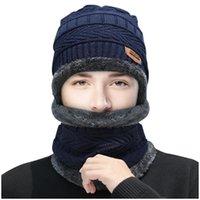 Beanies Winter Women Men's Skullies Wool Knitted Balaclava Cap Ninja Mask Thermal Plush Pocket Hat Unisex Snow 2021