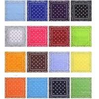 Party Decoration cashew square towel with gradient hip hop magic headband polyester BANDANA printed handkerchief T2I51969