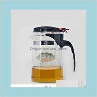 Home Jardim Cozinha Jantar Bar Drinkware Sets 500ml Resistente ao Calor Potenciômetro de Vidro Flor Set Puer Kettle Bule 5EI1