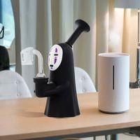 6.2 인치 흡연수 봉 실리콘 파이프 봉지 DAB 조작 오일 장비 담배 괴물 모양의 멋진 디자인 무료 유리 그릇을위한 물 담뱃대 파이프 포함