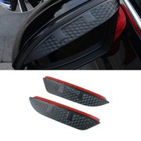 For Volkswagen Magotan 2007-2021 B7 B8 Car Stickers Side Rearview Mirror Rain Eyebrow Visor ABS Carbon Fiber SunShade Guard Accessories