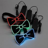 Yay Ties 7 Renkler LED Kravat Yüksek Kalite Moda Mevcut Yanıp Söndürme Papyon Işık Yukarı 2 Batarya Erkekler Için Evlilik Hediye Parti Malzemeleri