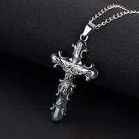 Pendant Necklaces Fashion Jewelry Crucifix Jesus Cross Chain Christian Stainless Steel Necklace For Men