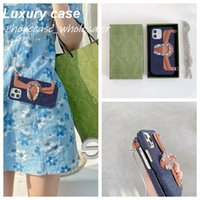 Handbag Wallet Phone Cases for iphone 12 Pro Max case 1211 XR XSMax 7 8 plus 6 with Luxury brand designer purses card lanyard sublimation phone-protective Cover