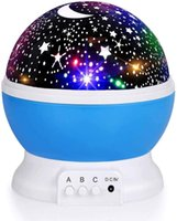 Light Star Night Light Nebula Star Projector 360 Degree Rotation 4 LED Bulbs 12 Light Color Changing with USB Cable Romantic Gifts for Men Women Children
