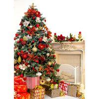 100x150 см Рождественские крытые тема фотографии материал камин елочные елки детские портреты фона для фотостудии реквизиты 21524 JPW-30